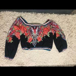 Flying Tomato Tops - Flying Tomato Off Shoulder boho floral blouse